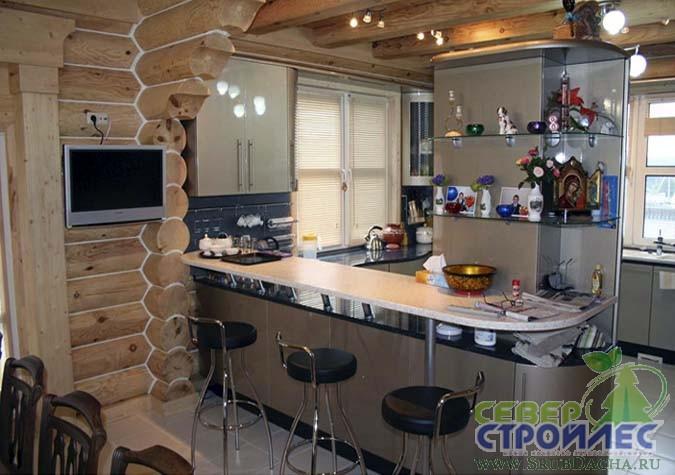 Интерьер кухни столовой в
