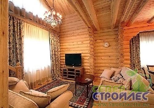 Интерьеры деревянных домов фото 8.