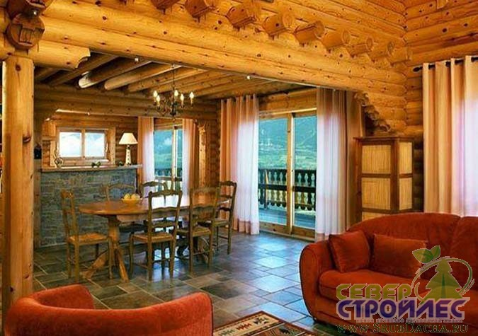 Интерьер деревянного дома 6 6
