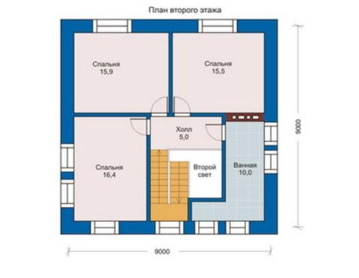План дачного дома 6х8