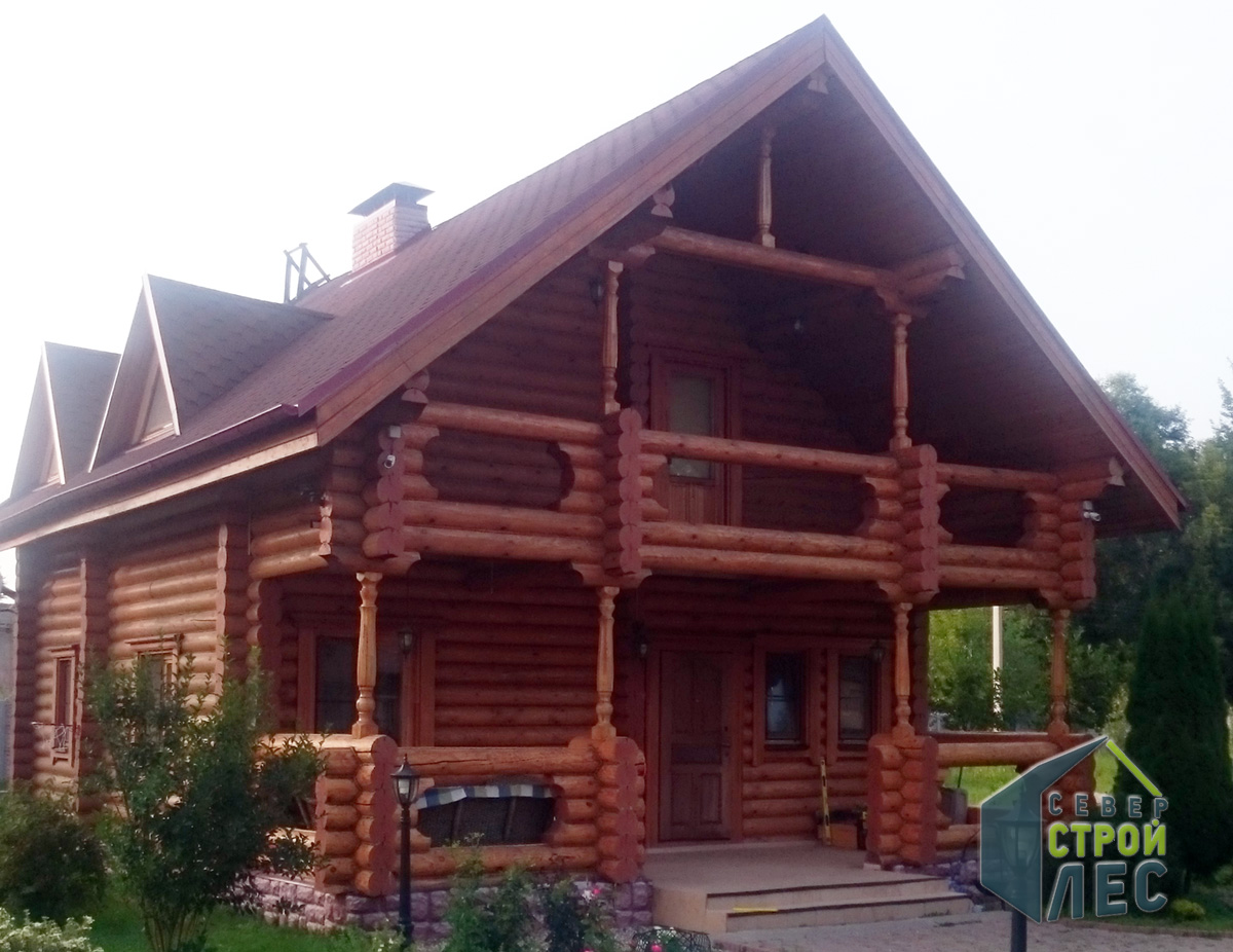 Дизайн домов из оцилиндрованного бревна
