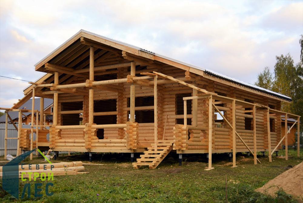 Строительство элитного сруба дома