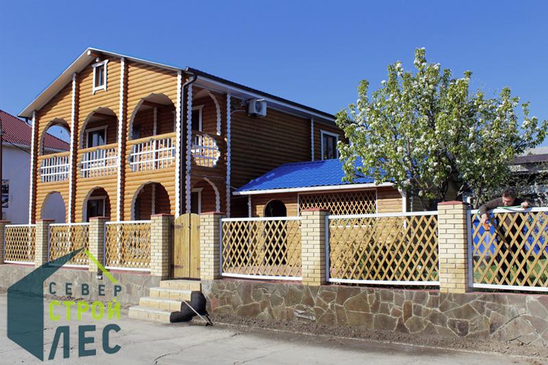Фасады домов из оцилиндрованного бревна - 1