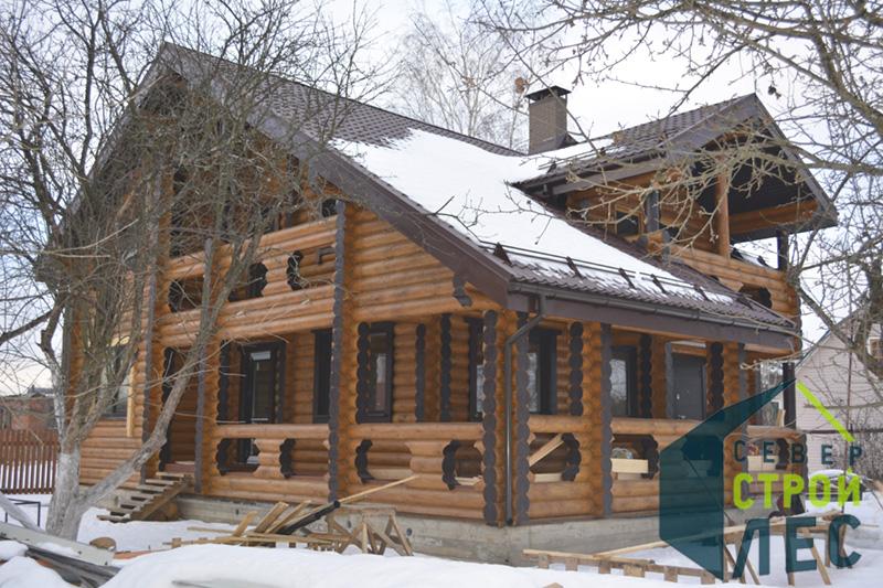 Фасады домов из оцилиндрованного бревна - 2