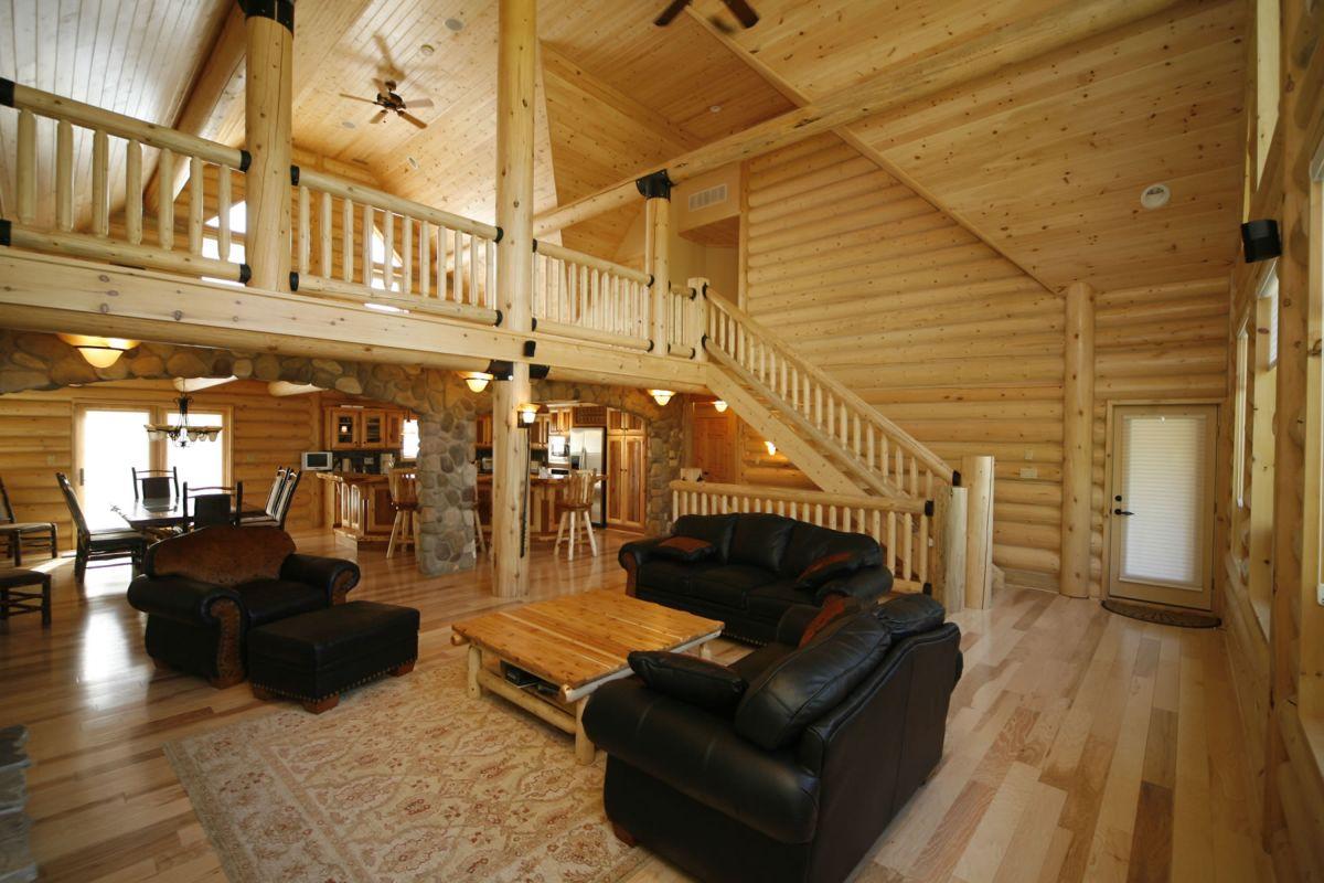 Как обставить деревянный дом