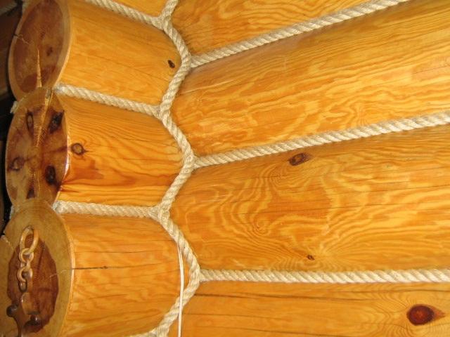 Утепление швов бревенчатого дома акриловым герметиком