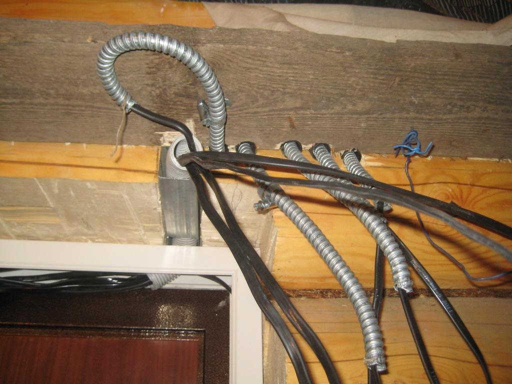 Металлоруков в деревянном доме