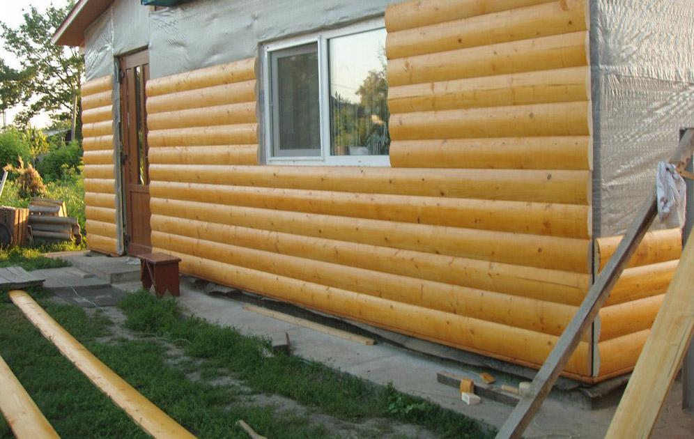 Обшивка деревянного дома блок хаусом
