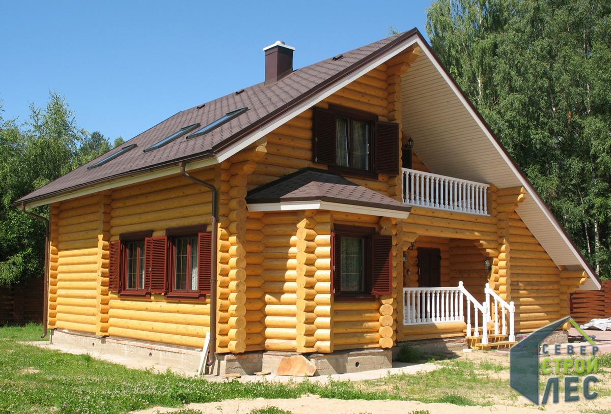 Огнестойкость дома из оцилиндрованного бревна