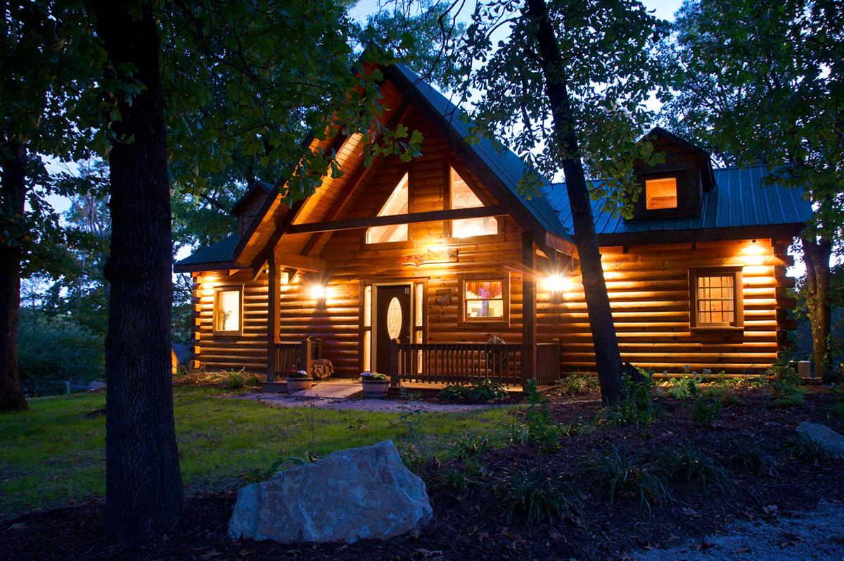 Освещение загородного деревянного дома - 2