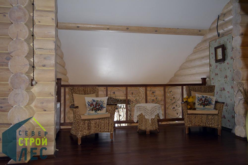 Внутренняя отделка сруба дома
