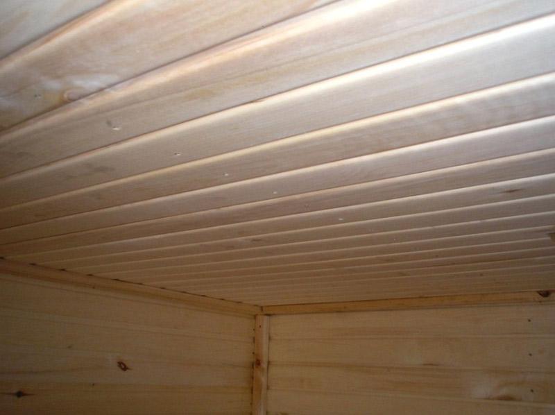 Как сделать потолок в срубе бани - фото 2