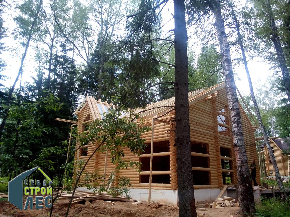 Стоимость срубов домов из оцилиндрованного бревна