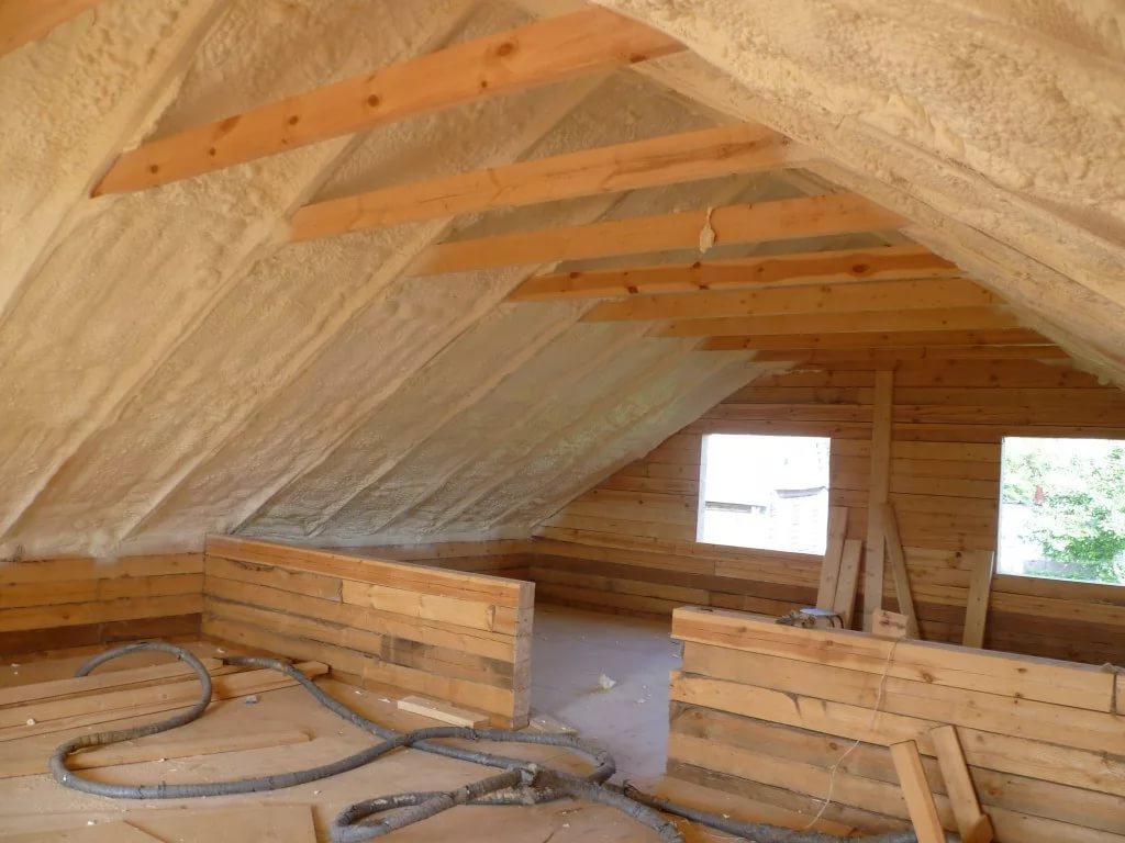 Утепление крыши деревянного дома из бруса