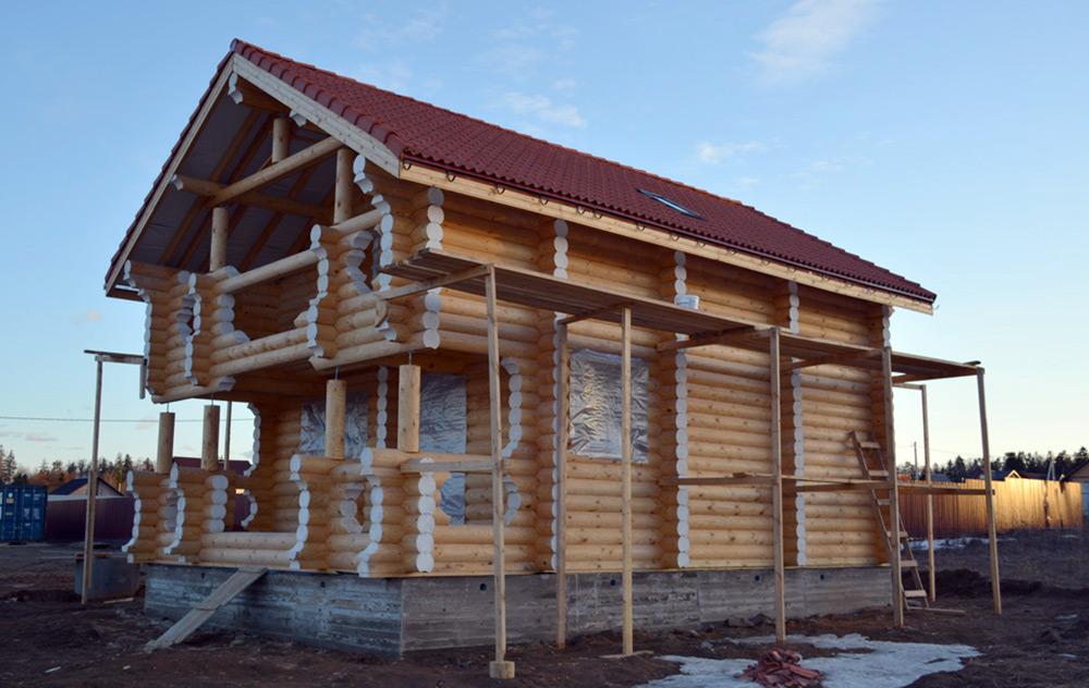 Строительство сруба дома по современному проекту