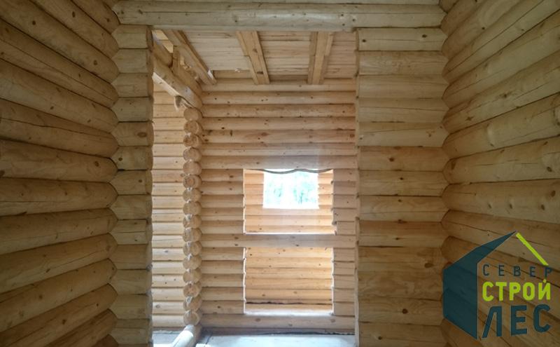 Стены в доме из оцилиндрованного бревна - 2