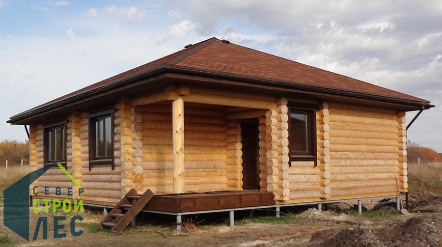 Строительство дачных домов эконом класса из бревна