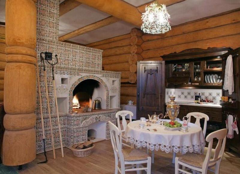 Деревянный дом в старорусском стиле