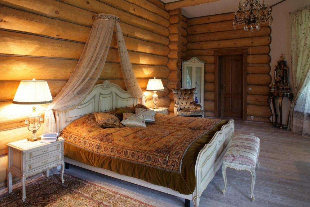Интерьер деревянного дома в классическом стиле