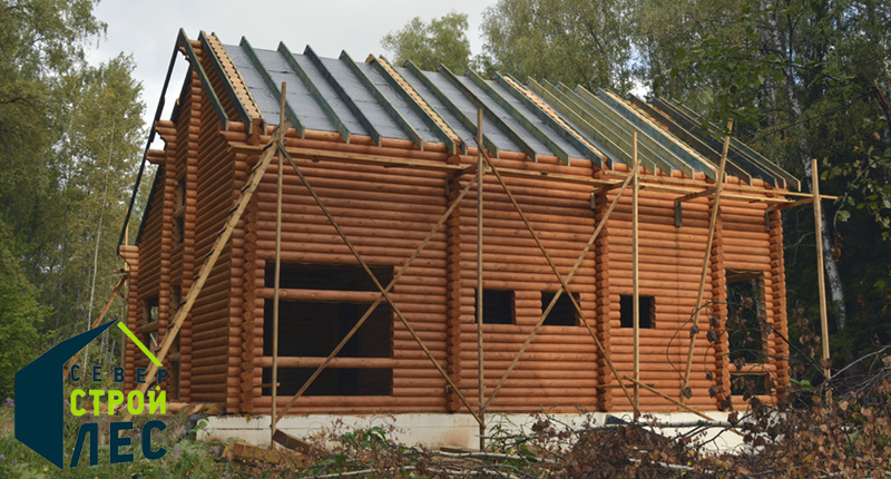 Технология строительства дома из оцилиндрованного бревна
