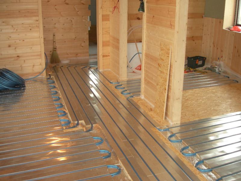 Теплый пол в деревянном доме - 1