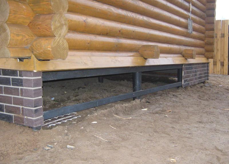 Установка сруба бани на фундамент - фото 2