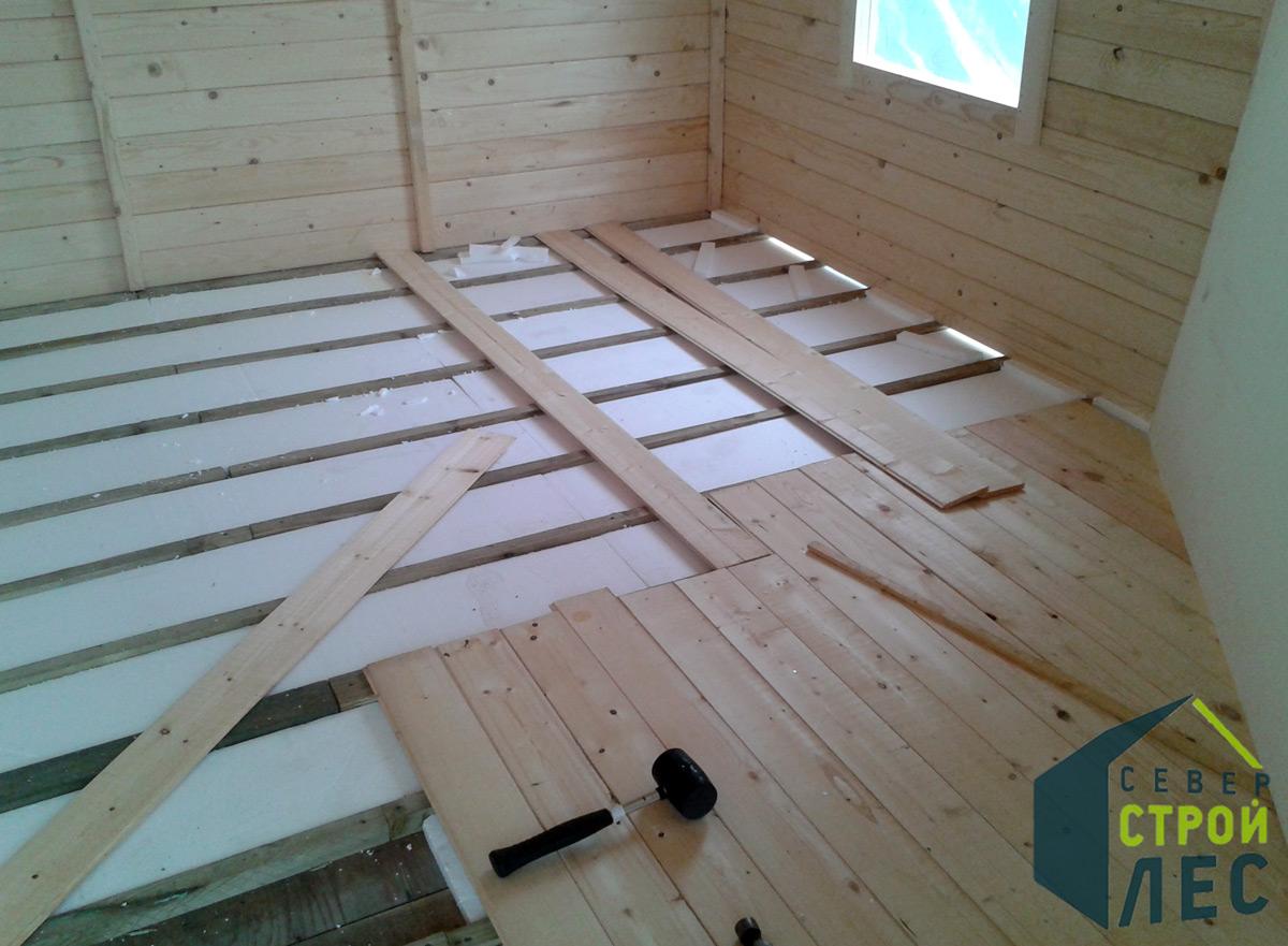 Утепление пола деревянного дома на винтовых сваях - 2