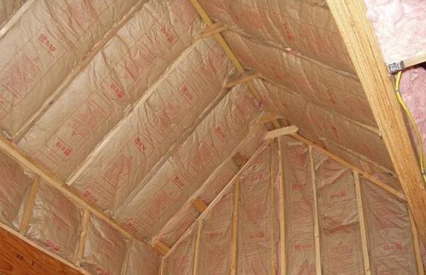 Как утеплить потолок в бане - 1