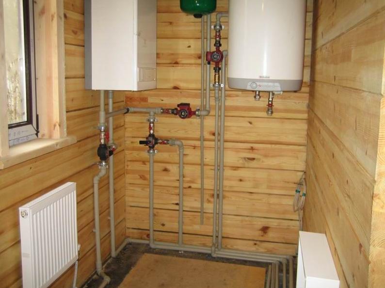 Водяное отопление деревянного дома - 1