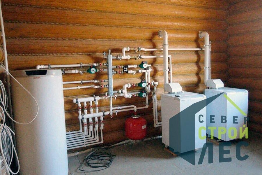 Котельная в деревянном доме, газовый котел для отопления частного дома
