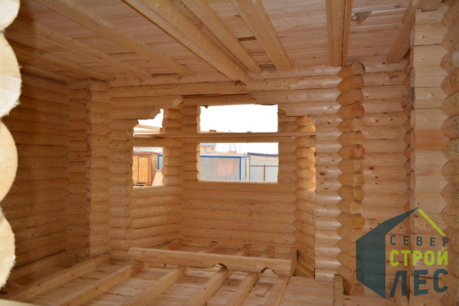 Комплектация дома из бревна под крышу - 1