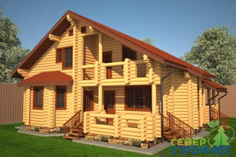 Дом из бревна Б48 Лучезарный-2