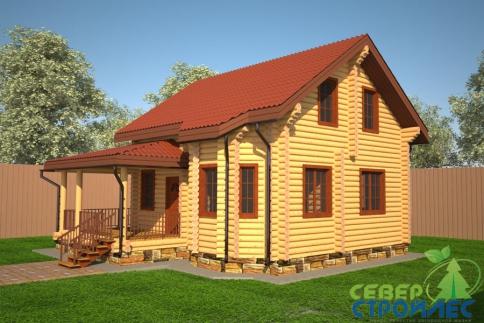 Дом из бревна Б17 Осень