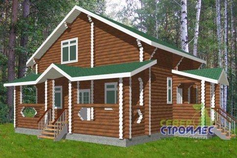 """Дом из бревна Б30 """"Северная звезда"""""""