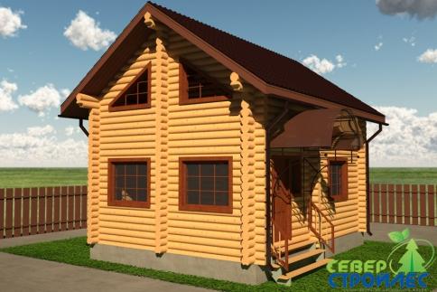 Дом из бревна Б9 Дача