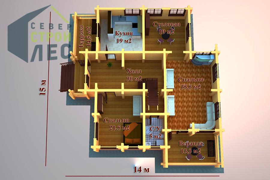 Проект дома б42 барский дом из