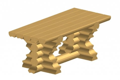 Стол из оцилиндрованного бревна