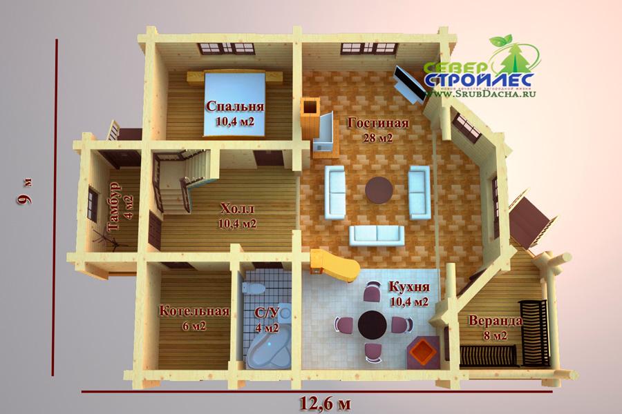 Проект дома а21 подмосковное шале из