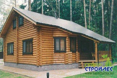 Дом из бревна Б21 Лесное шале