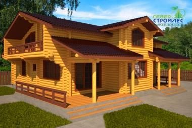 Дом из бревна Б46 Авангард